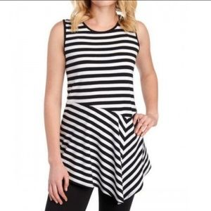 Vince Camuto Tops - Vince Camuto Striped Sleeveless Asymmetric Top